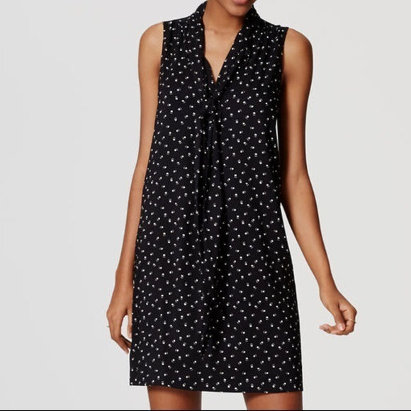 LOFT Dresses & Skirts - Paw 🐾 Print Shift Dress with Necktie from LOFT